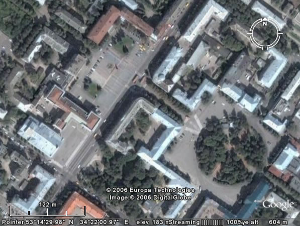 Google Earth Брянск: центр города