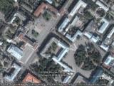 Google Earth Брянск: площадь Ленина, сквер Карла Маркса (Круглый), Драмтеатр