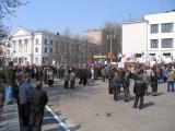 Профсоюзный митинг в разгаре