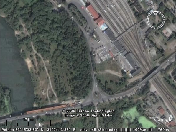 Google Earth Брянск: железнодорожный вокзал Брянка (Брянск Орловский)